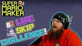 HARDEST SMM CHALLENGE! - Super Mario Maker - 100 Expert 1 Life = Skip Challenge with Oshikorosu