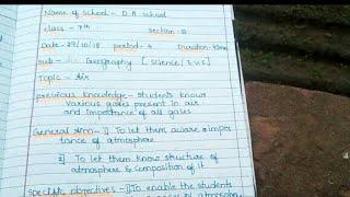 Geography lesson plan / lesson plan on air/ air/ science lesson plan/ evs lesson plan
