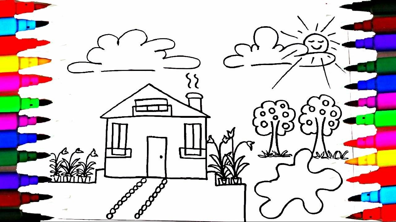 how to draw and paint kids playhouse learning coloring pages videos for children learn colors - Pictures To Paint For Children