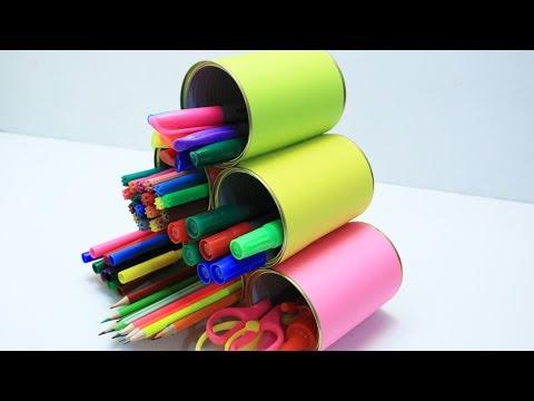 11 DIY PENCIL HOLDER CRAFT IDEAS | COOL AND EASY HANDMADE PEN HOLDER