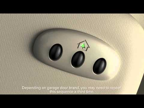 Universal Garage Door Opener Homelink 174 Lincoln How To