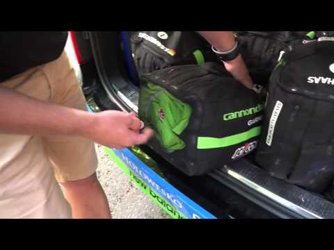 What's in Andrew Talanksy's rain bag?