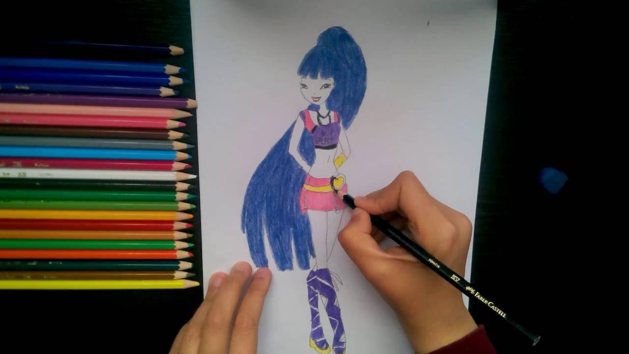 Winx Musa çizimi How To Draw Winx Musa Youtube