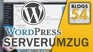 Tutorial Wordpress Domain Umzug oder Providerumzug, So geht's richtig.