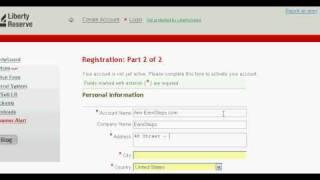 Wie Erstellen Sie ein Konto auf Liberty Reserve, e-bank