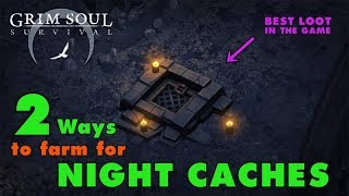 How to Farm for Night Caches in Grim Soul Dark Fantasy Survival (Vid#119)