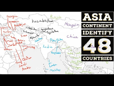 Asian Countries| Map of Asia Continent (Countries and location)|48 countries in asia|EasyToRead