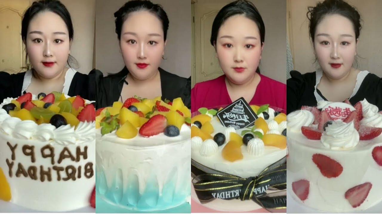 ASMR 2177697581's Cream Cake Special | MUKBANG | KWAI EATING SHOW | 먹방 | CHINESE DESSERT