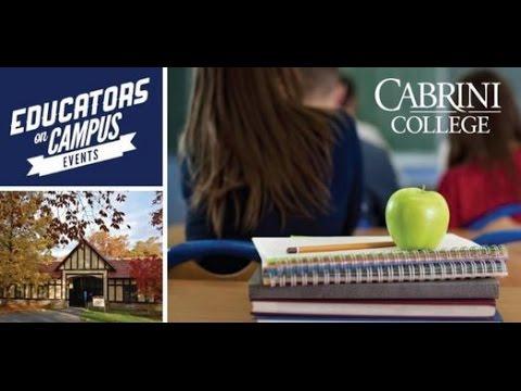 Educators on Campus: Common Core Panel at Cabrini College