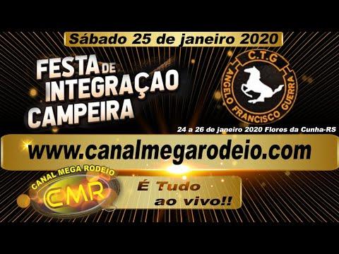 Festa de integração -CTG Ângelo Francisco Guerra -Sábado 25/01/2020