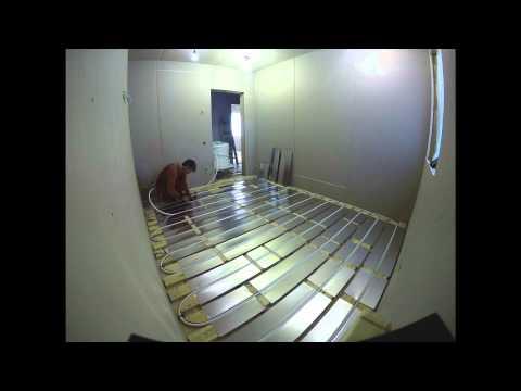 видео: Теплый пол сухой конструкции в доме из sip-панелей