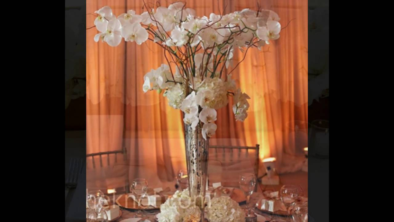White Orchid Centerpiece Decor Youtube