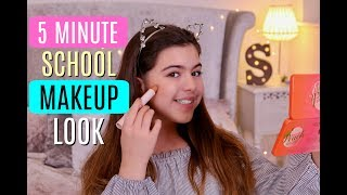 5 Minute School Makeup Look. Hey everyone, today i wanted to do a d...