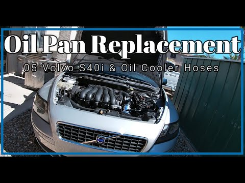 2005-2011-volvo-s40-&-v50-2.4l-5-cyl-oil-pan-replacement-how-to-video-&-oil-cooler-hose-replacement