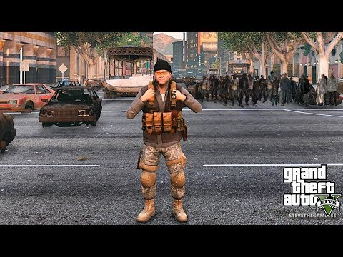 GTA 5 ZOMBIE APOCALYPSE MOD - MICHAEL'S FIRST DAY!! (GTA 5 MODS)