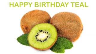 Teal   Fruits & Frutas - Happy Birthday