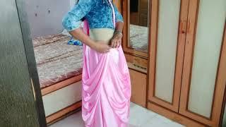 Traditional drape in indowestern style//Stylish saree drape over denims//Rakshabandhan look/priyanka