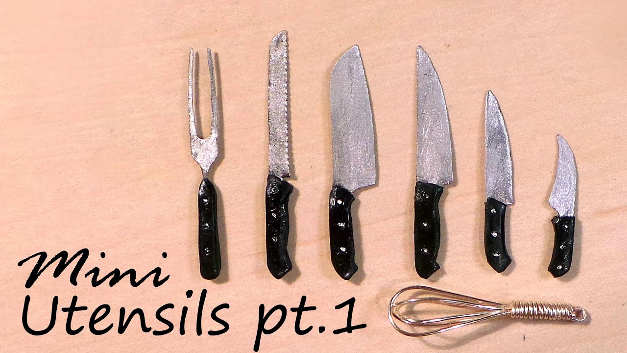 Miniature Kitchen Utensils Jeffrey Alexander Island Knives And Whisk Tutorial