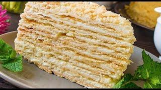 Простой рецепт торта Наполеон Идеальный торт Наполеон из детства Napoleon cake recipe
