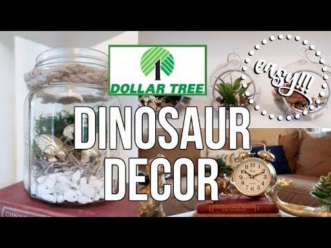 DOLLAR TREE | DIY | DINO DECOR!!!