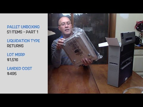 Download Unboxing A Pallet Of Tools Outdoor Liquidation
