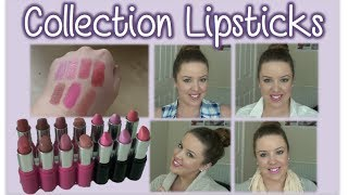My 'Collection' lipsticks - Review, Swatches and Demo!! Thumbnail