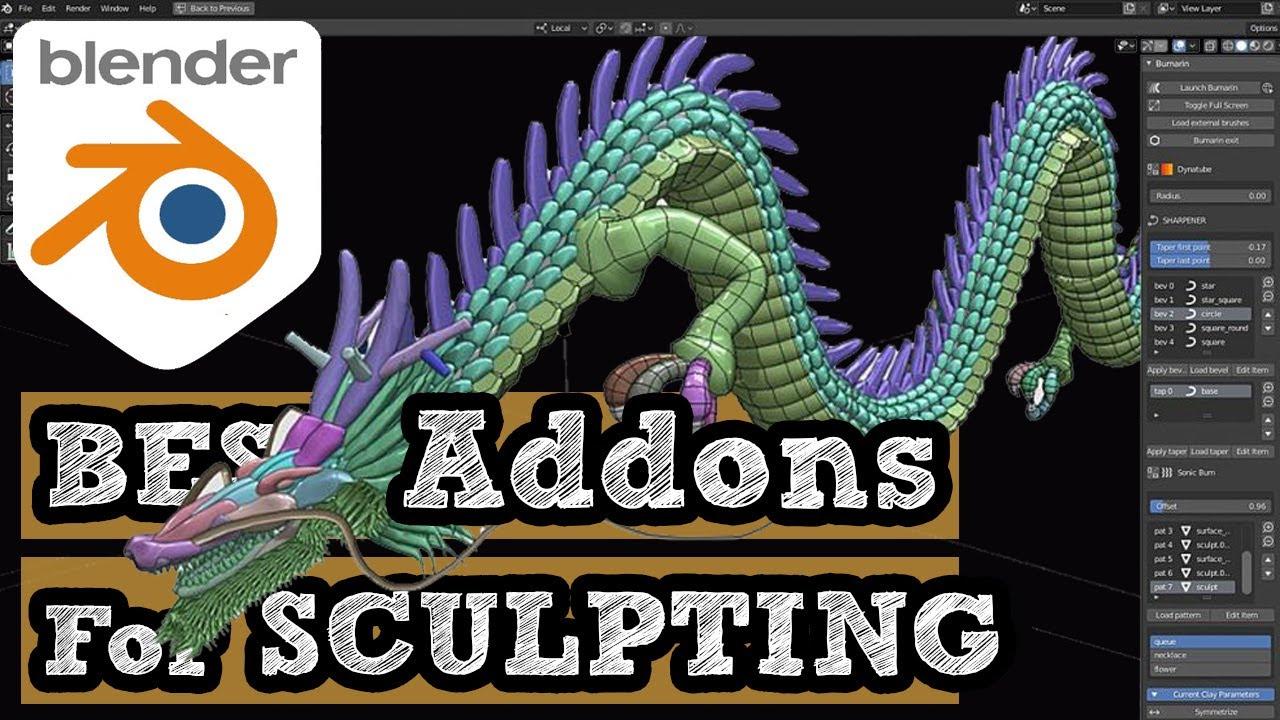 Blender sculpting Addons