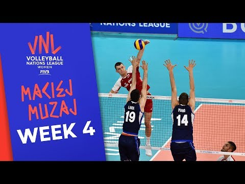 That was brutal! Maciej Muzaj with 26 Points Made vs. Italy | Volleyball Nations League 2019