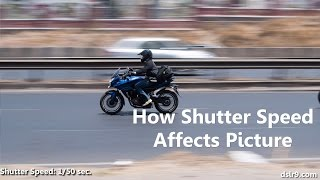 How Shutter Speed Affects a Photograph (Hindi)