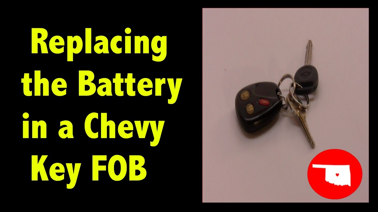 Replacing Battery In Chevy Key Fob Youtube