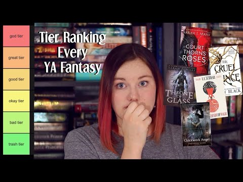 Tier Ranking EVERY YA Fantasy I've Ever Read // Fantasy Book Recommendations