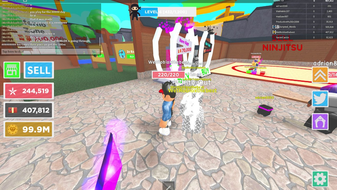 How To Get Free Rebirth Coins In Roblox Ninja Masters Youtube