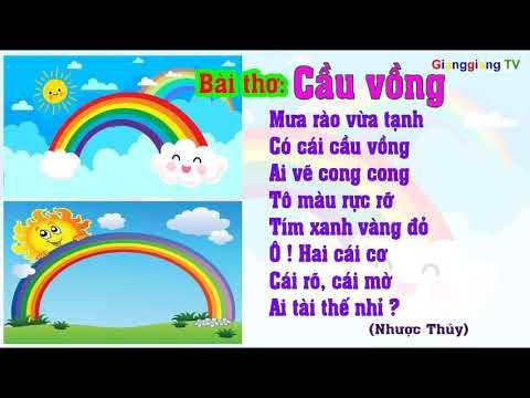 Bài thơ Cầu vồng – Thơ truyện mầm non – Đọc thơ cho bé [ GianggiangTV ]