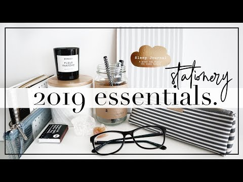 New 2019 Stationery & Organization Essentials Mp3