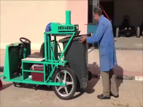 Electric road sweeper made in Egypt