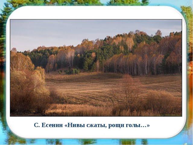 Изображение предпросмотра прочтения – ТатьянаТельканова читает произведение «Нивы сжаты, рощи голы…» С.А.Есенина