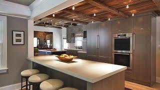 Оформление потолка на кухне (51 фото): инструкция как оформить своими руками, видео, фото