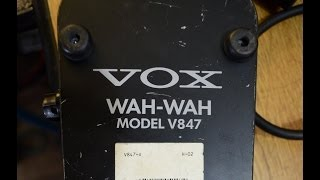 wah wah vox v847 truebypass y q mod by efectos cluster