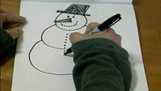 How to Draw Cartoon Christmas Characters : How to Draw the Bottom of a Cartoon Snowman