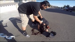 HOVERBOARD GETS HIT BY CAR (PRANK)