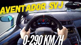 Lamborghini Aventador SVJ : brutal acceleration !