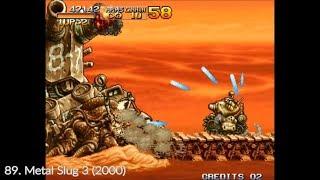 100 Random Neo Geo games In 10 Minutes