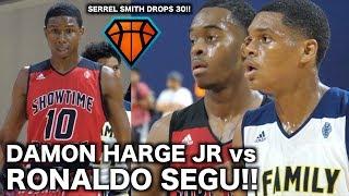 Damon Harge Jr vs Ronaldo Segu Sparks INTENSE Showtime Ballers vs 1Family Game!! | Full Highlights