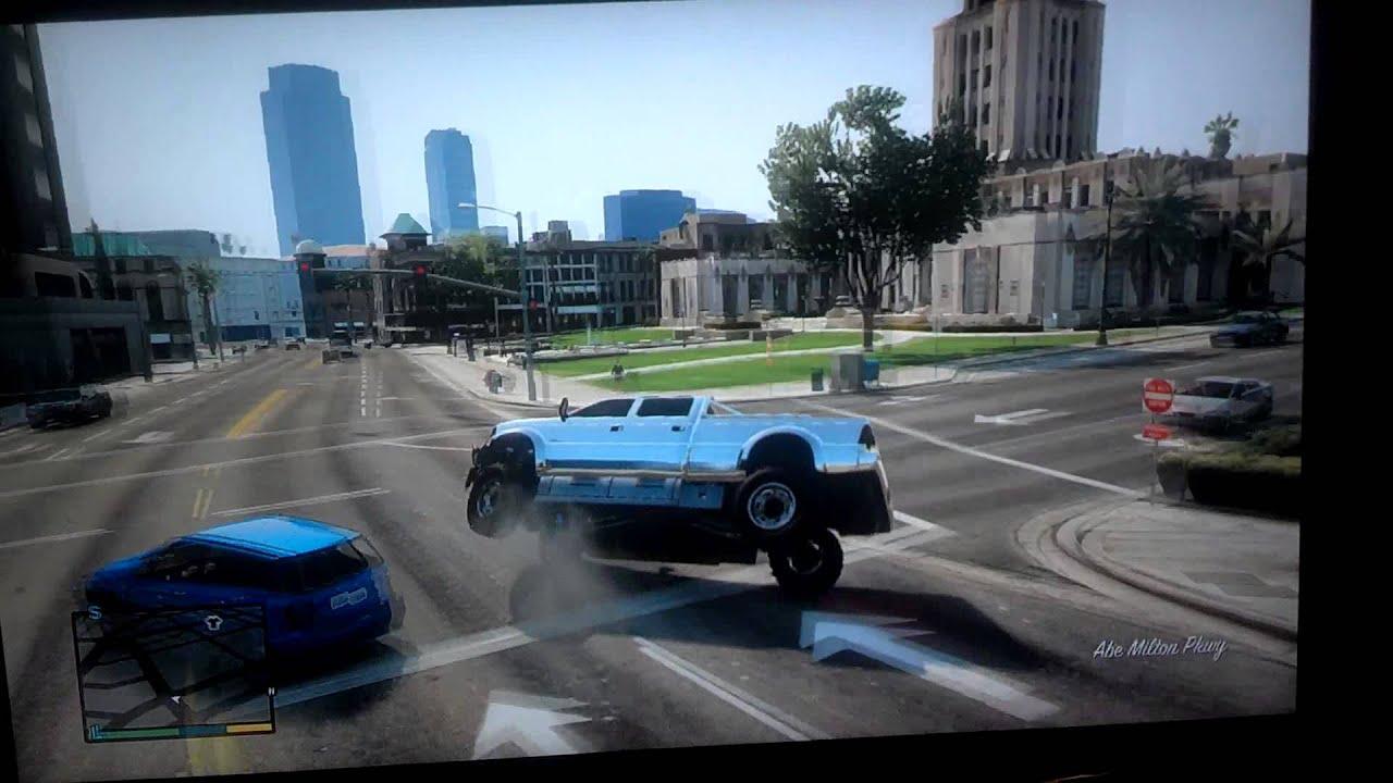 Lifted Dodge Ram >> GTA 5 LIFTED TRUCK. CHROME/RED SMOKE - YouTube