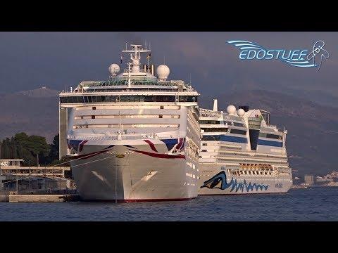 P&O Oceana Departing Port Of Split 3/10/17 - Croatia HD