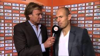 Interview Robben na Nederland - Duitsland 14-11-2012