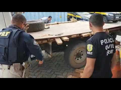Em operação conjunta, PRF e Polícia Civil apreendem 186 kg de pasta base em Mato Grosso