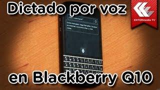 Blackberry Q10: Dictado por voz
