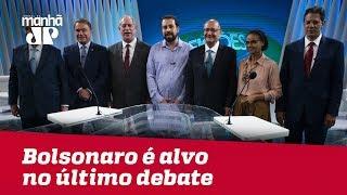Mesmo ausente de debate na Globo, Bolsonaro é alvo de ataques e críticas de adversários