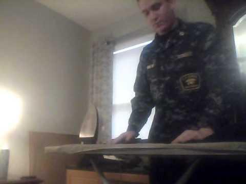Ironing navy dress whites